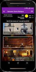 Pantalla Principal App Semana Santa Badajoz