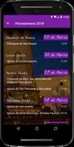 Procesiones de la App Semana Santa de Badajoz