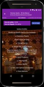 Recorrido procesiones App Semana Santa Badajoz